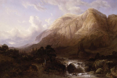 Mountainous Landscape with a Torrent