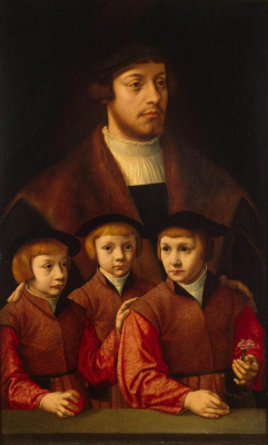 Portrait of a Man with Three Sons