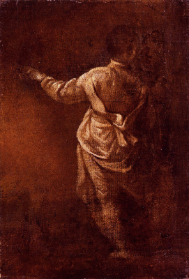 Study Of A Young Boy Seen From Behind