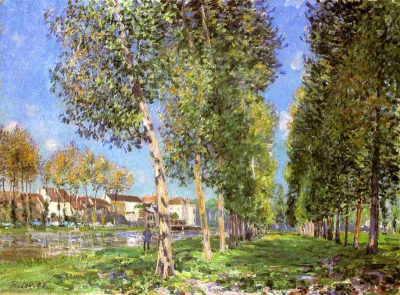 The Lane of Poplars at Moret-Sur-Loing