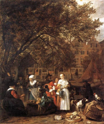 Vegetable Market in Amsterdam