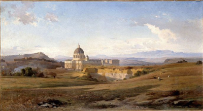 View of Saint Peter's in Rome