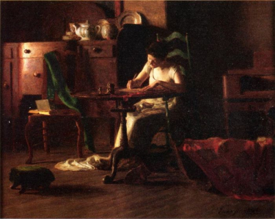 Woman Writing at a Table
