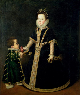 Girl with a dwarf 1595