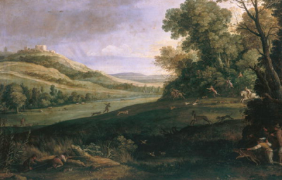 Landscape with Rabbit Hunt
