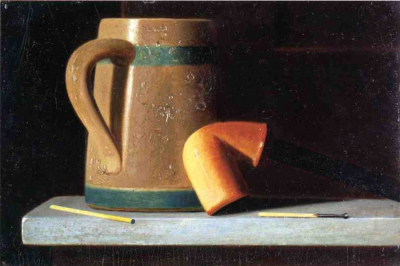 Still Life with Mug and Pipe