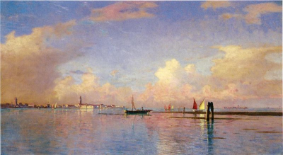 Sunset on the Grand Canal, Venice