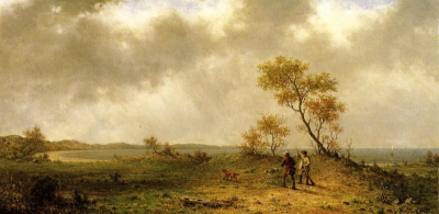 Two Hunters in a Landscape
