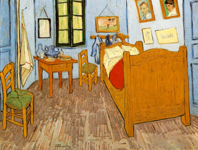 Vincents Bedroom in Arles Yellow