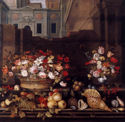 Still Life with Flowers, Fruit, and Shells 1640