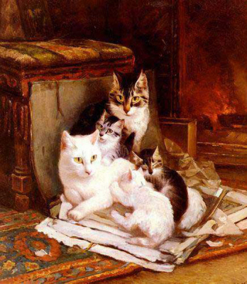 Cat Paintings N016