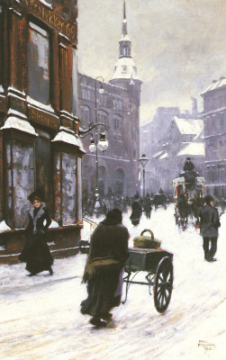 A Street Scene in Winter, Copenhagen