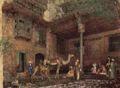 Courtyard of the Painter's House in Cairo