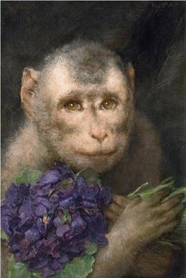 Monkey with Bouquet