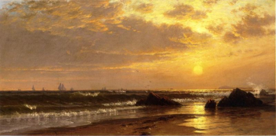 Seascape with Sunset