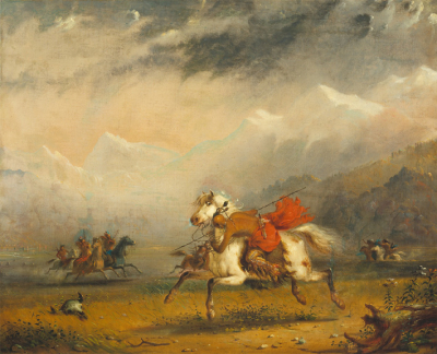 Snake and Sioux Indians on Warpath