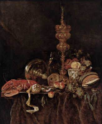 Still-Life with Lobster and Fruit