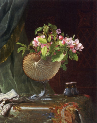 Victorian Still Life with Apple Blossoms