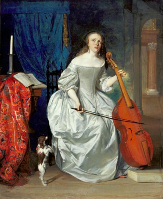 Woman Playing the Viola da Gamba