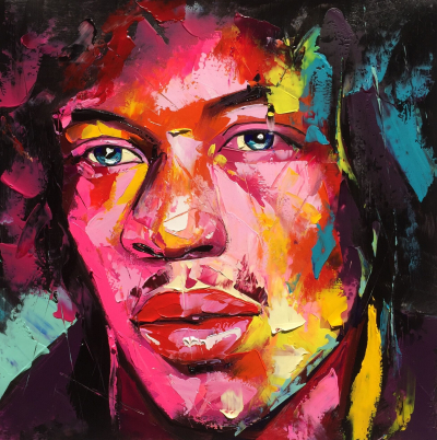 Jimi Hendrix in Francoise Nielly Style