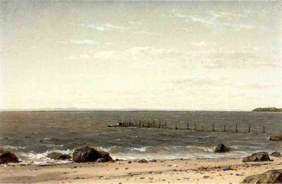 New England Beach Scene