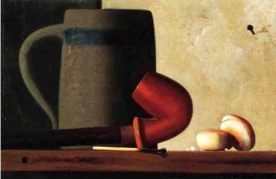 Still Life with Mug, Pipe and Oyster Crackers
