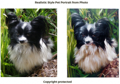 Order 1 Pet Portrait from Photo