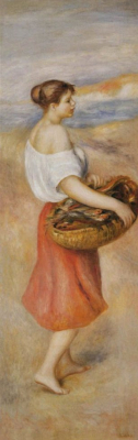 Girl with a Basket of Fish