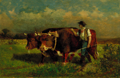 Untitled (man with two oxen)
