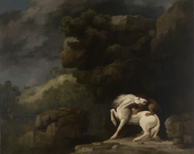 Yale - A Lion Attacking a Horse