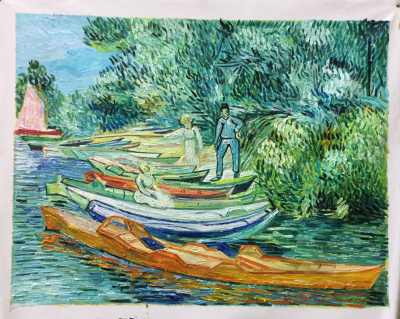 HQ Van Gogh banks of the Oise at Auvers-71.1 × 93.7 cm