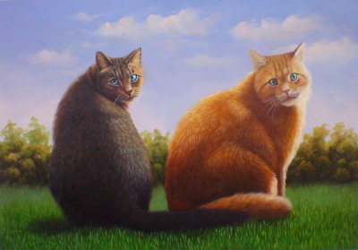 Cat Paintings N005
