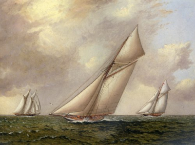 Vigilant vs. Valkyrie II In The 1895 America's Cup