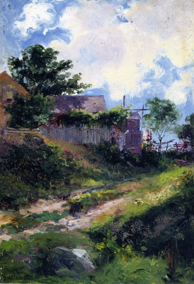 Landscape with House and Fence