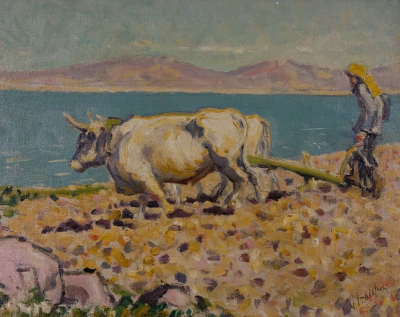 Ploughing with Oxen, Cape Verde Islands
