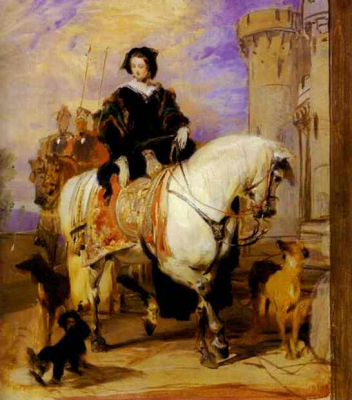 Queen Victoria On Horseback