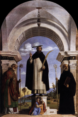 St Peter Martyr with St Nicholas of Bari, St Benedict and an Ang
