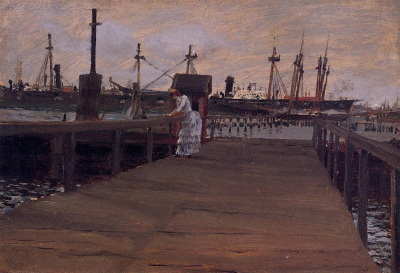 Woman on a Dock