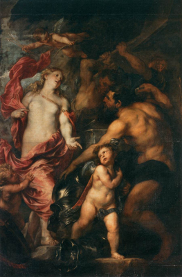 Venus Asks Vulcan to Cast Arms for her Son Aeneas
