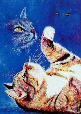 Cat Paintings N019