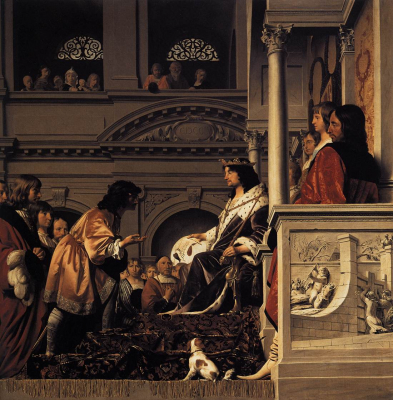 Count Willem II of Holland Granting Privileges