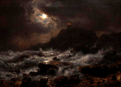 Norwegian Coast by Moonlight