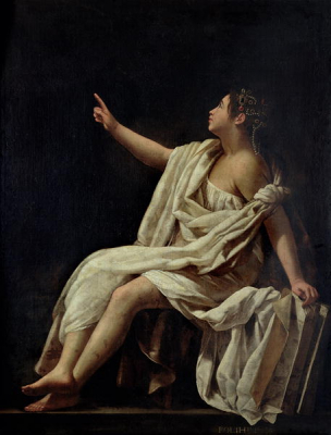 Polyhymnia the Muse of Lyric Poetry 1620