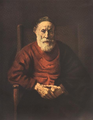 Portrait of an Old Man in Red 1652 to 54
