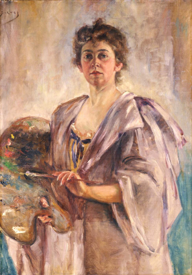 Self-Portrait in Painting Robe