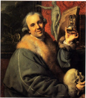 Self-Portrait with Hourglass