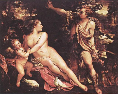 Venus, Adonis, and Cupid