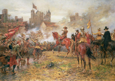 Cromwell at the Storming of Basing House 1900