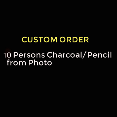 Order 10 Persons Charcoal/Pencil Portrait from Photo
