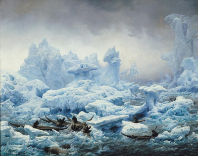 Fishing for Walrus in the Arctic Ocean 1841